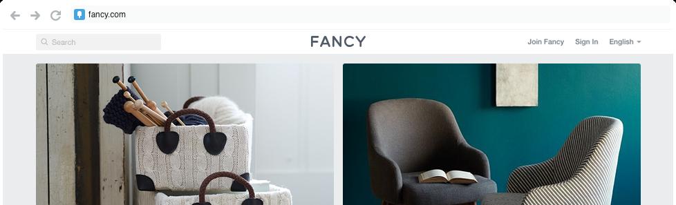 fancy websites like pinterest